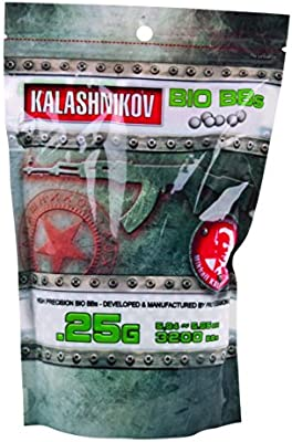 Kalashnikov Softair BBS hochwertige BIO 3.200 Stück Kal. biologisch abbaubar - Balines de plástico para airsoft, talla 6 mm