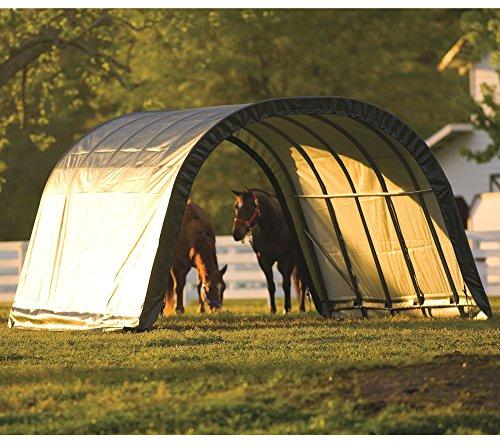 ShelterLogic Run-In-Weidezelt Lagerzelt, Lagerhütte // 22,6m² // 610x370x250 cm (LxBxH) // Weidezelt Unterstand -