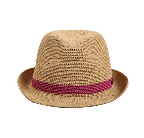 Summer Ladies Hats Sombrero de paja de la rafia para las mujeres Sombreros  de la playa bc601e42628b