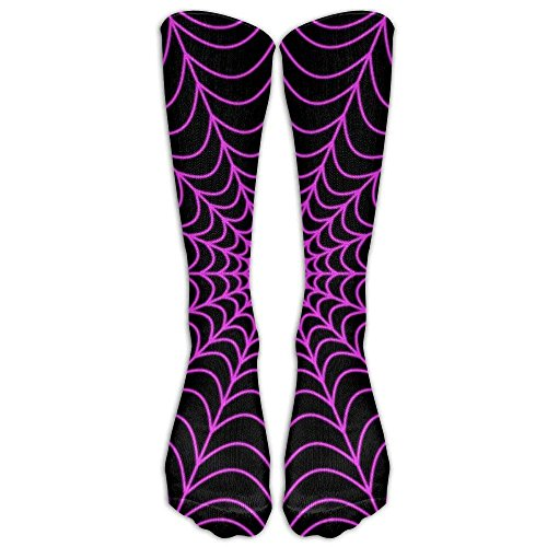 UFHRREEUR Halloween Spider Web Compression Socks Soccer Socks Knee High Socks for Running,Medical,Athletic,Edema,Diabetic,Varicose Veins,Travel,Pregnancy,Shin ()