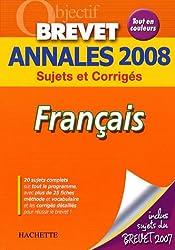 Français Brevet : Annales 2008