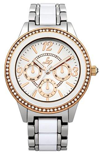 Police. LP251 - Reloj de cuarzo para mujer, con correa de otros materiales, color blanco