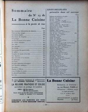 BONNE CUISINE A LA PORTEE DE TOUS (LA) N° 13 du 01-09-1955 LES RESSOURCES ALIMENTAIRES DU TRIMESTRE - LES OEUFS - LES POISSONS - LES PATES - L'HIVER - LE PLACARD A PROVISION - RECETTES DE GRANDS CHEFS - POUR VOS RECEPTIONS - L'ART DE BIEN MANGER - - LES REPAS CHAMPETRES - PLATS ETRANGERS - LES SAUCES - MENUS MAIGRES - MENUS SIMPLES - HORS-D'OEUVRE - LES PLATS DE VIANDE ET LES ROTIS - PLATS REGIONAUX - POTAGES - LES DESSERTS- LES VIN
