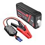 AUDEW 800A Spitzenstrom 16800mAh Dual USB Auto Starthilfe Jump Starter Tragbare Autobatterie...