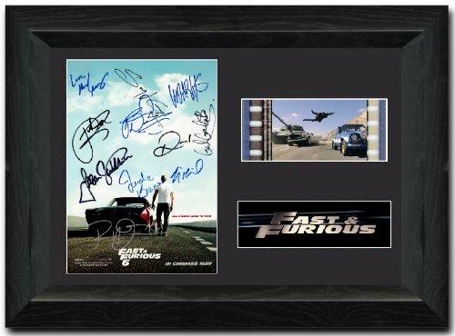 Fast & Furious 6 Gerahmte Filmkunst mit Filmzelle, 35 mm, signiert von Vin Diesel, Paul walker