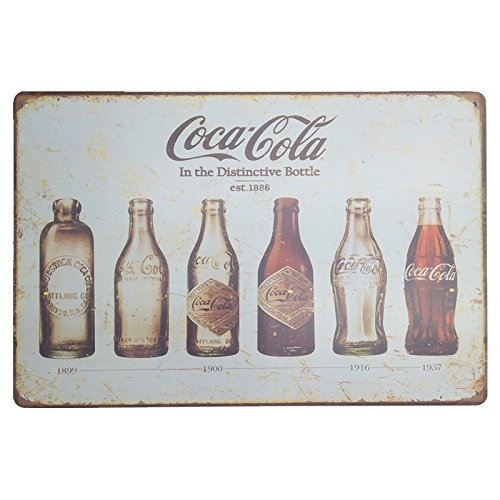 MARQUISE & LOREAN Coca Cola Placas Decorativas Pared