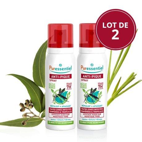 PURESSENTIEL Spray Anti-pique - Lot de 2 Spray Repulsif...