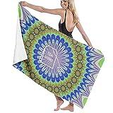 xcvgcxcvasda Badetuch, The Shirt Tee Flower Prints Bath Towel Wrap Spa Shower and Wrap Towels Swimming Bathrobe Cover Up for Ladies Girls White