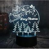 Nachtlichter NEUE 3D LED Beleuchtung Rodeln Lieber Weihnachtsbaum Nachtlichter USB Warm Schreibtischlampe Startseite Frohes Neues Jahr Weihnachten für Kinder