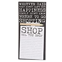 West5Products Vintage Font Shop Design Magnetic Fridge Shopping List / Memo Note Pads & Pencil