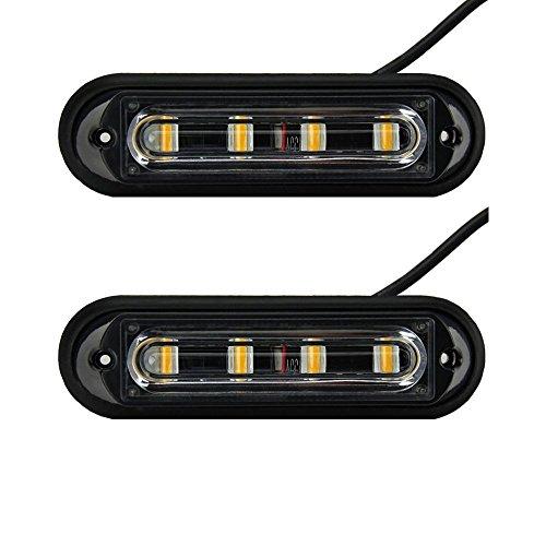 4-LED Notfall Stroboskop Warnung Beacon Flash Lampe 16-flashing Modus für Car SUV Pickup Truck Van LKW Vorsicht Konstruktion Light Bar Wasserdicht (2) (Strobe Light Pickup)