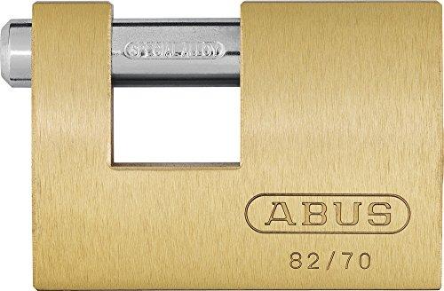 Abus - 82/90 90mm Monoblock Brass Shutter Vorhängeschloss Carded - ABU8290C