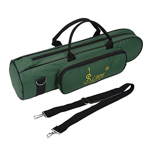 Trompete Tasche, Oxford Tuch Stoßfest Trompete Tasche mit Schultergurt und Griffgriff(Grün)