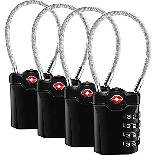 TSA Candados para equipaje - Candado de aleación de zinc TSA con cabl