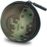 GoFree Orb Case for Earphones, Pen Drives, SD Memory Cards, Keys, Coins Etc. [ Multi Purpose Case ] Shock Proof Ballistic Nylon (Camouflage Green)
