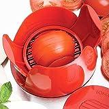 FiMall Küchengeräte Tomatenschneider, Tomatenschneider, Mozarella Schneider, Multifunktionstomatenschneider für Obst und Gemüse mit 8 scharfen Edelstahlklingen