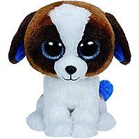 Ty Beanie Boos Dog Regular Plush Toy, 6 Inch [Brown/White, 36125]