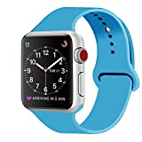 ZRO para Apple Watch Correa, Silicona Suave Reemplazo Correo de Sport Banda...