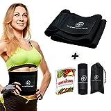 Ceinture de sudation abdominale de qualité supérieure - Pour homme et femme - Avec sac de transport et manuel électronique - Pour perdre rapidement et facilement du poids