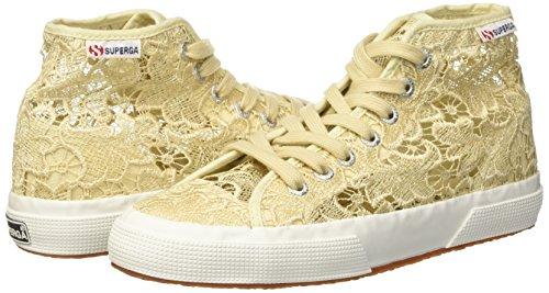 Beige 41 Superga 2795Macramew Sneaker a Collo Alto Donna Ivory 205