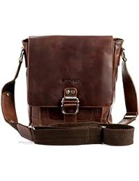 STOKED small cross-body bag - messenger NATHAN Vintage-Look - shoulder bag  brown 6433727969a77