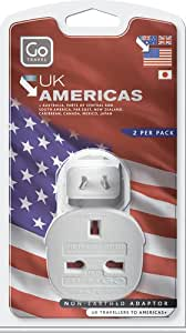 Transworld Adapter - UK to American Adaptor - Twin Pack