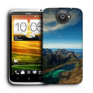 Snoogg River Side Mountain Printed Protective Phone Back Case Cover For HTC One X