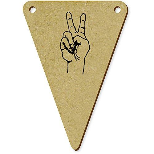 5 x 70mm 'Signe de Paix' fanions triangles en bois (BN00009617)