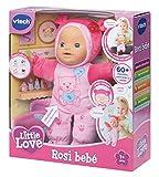 VTech - Little Love - Mon Bébé Apprend À Parler - poupée interactive - poupon - poupée évolutive - 2-8 ans - rose (153905)