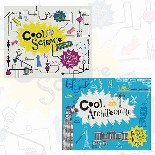 Cool Science Tricks and Cool Architecture 2 Books Bundle Collection - 50 Fantastic Facts for Kids of All Ages
