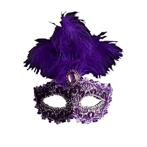 Fliegend Damen Masquerade Maske Federmaske/Halloween Maske/Karneval Maskerade Maske/Venetian Gesichtsmaske/Sexy Augenmaske/Erotik Maske/Maskenball Maske für Weihnachten Party (Für Prime Erwachsene Optimus Halloween-kostüm)