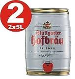 2 x Stuttgarter Hofbräu Pilsner 5 L Partyfass 4,9% vol.