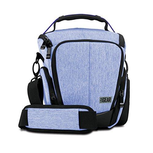 UTL Mochila Cámara Reflex / Bolsa Protectora DSLR / Funda de Cámara Digital como Nikon D3300 D750 D5300 D5500 Canon EOS 1300D 100D 700D 750D Pentax K50 y Accesorios | Color Azul