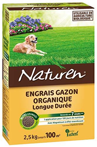 NATUREN Engrais Gazon Organique 100m² 2,5kg