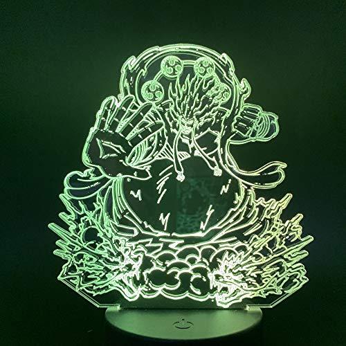 3D Nachtlicht 3d LED Nachtlicht Anime Figur Acryl Handwerk Nachtlicht Geschenk für Kind Junge Schlafzimmer Dekor Tischlampe LXKEM