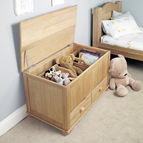 Amelie Eiche Spielzeug Box Decke/Box (Decke-boxen Eiche)