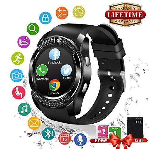 Smart Watch,Teléfonos Inteligentes Reloj Inteligente Bluetooth Smart Watch Reloj Inteligente Hombre Mujer...