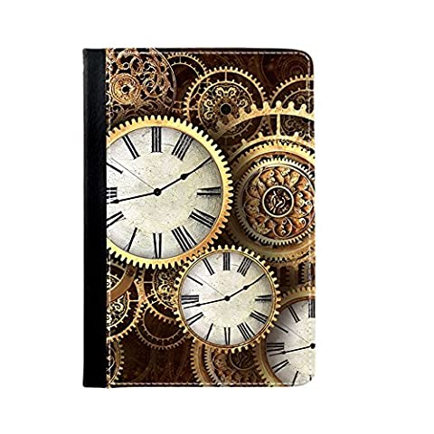 For Ipad 2 3 4 Girl Print With Clock Wheel Card Slot Beautify