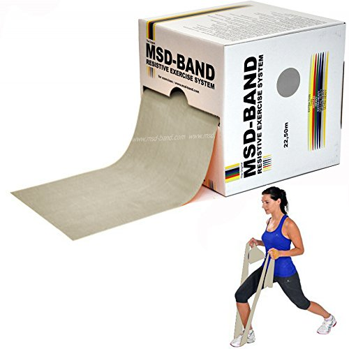 Msd TUBING NERO 2,5 MT Utente con Alta Preparazione Fisica Tubo Elastico Fitness Palestra Pilates FORTE SPECIALE