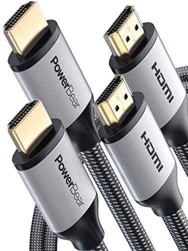 PowerBear Cable HDMI [2m - Pack 2] Cable Ultra-HD