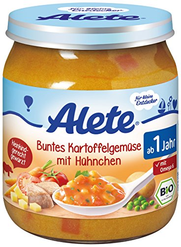 Alete Buntes Kartoffelgemüse mit Hühnchen, 6er Pack (6 x 250 g)