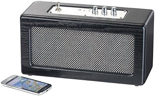auvisio Stereo Lautsprecher: Mobiler Retro-Lautsprecher mit Bluetooth 4.1 und AUX-Eingang, 40 Watt (Strand-Lautsprecher) -