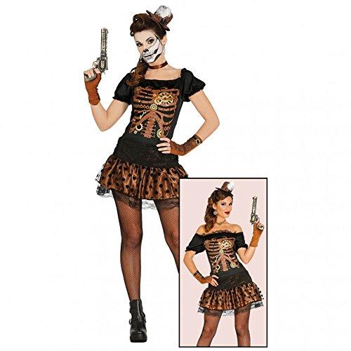 Steampunk Kostüm Jessy Gr. 36/38 Kleid braun Mini-Hut Zahnräder 19.Jh. (Jahrhundert Kleider 19 Kostüme)