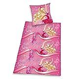 Herding 4410301050521 Barbie Bettwäsche, Baumwolle, rosa, 135 x 200 cm
