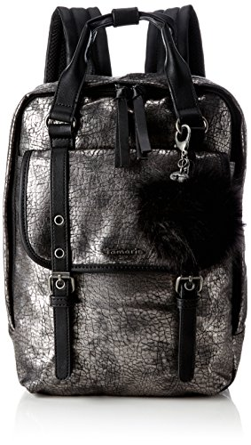 Tamaris Damen Leticia Backpack Rucksackhandtasche, Grau (Pewter Comb), 9 x 34.5 x 24 cm