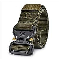 LLZGPZPD Cinturón De Lona 18 Hombres Cinturón De Lona Hebilla De Inserción  De Metal Nylon Militar 034425fd93c9