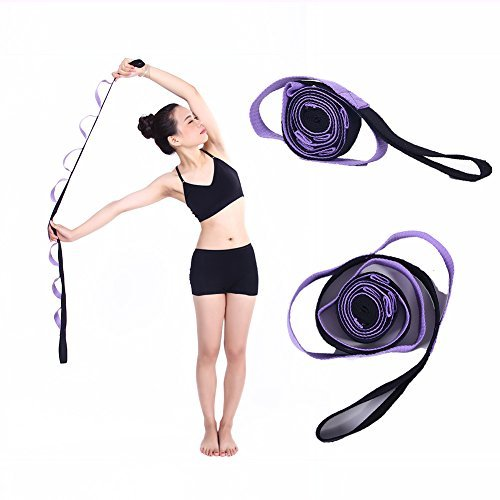 Kottle 10 feste Schleifen Anti-Rutsch strapazierfähiger Baumwolle Yoga Gurt, Multi-Stretching Griffschlaufe für Flexibilität und...