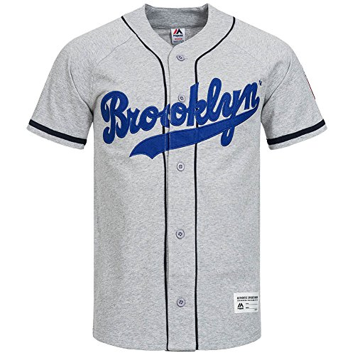 Brooklyn Dodgers Majestic Shirt MLB baseball Jersey, A1BRO6026GRY07X, XL
