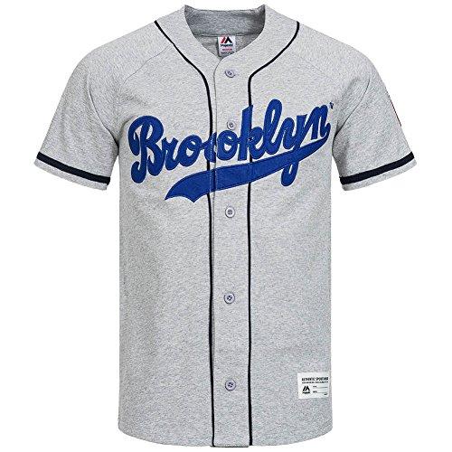 Brooklyn Dodgers Majestic Shirt MLB baseball Jersey, A1BRO6026GRY07X, L