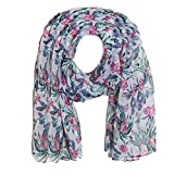 #6: Swan Floral Scarf in White For Women